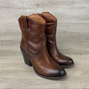Lucky Brand Jeans Cowboy Western Ankle Boots Sz 4